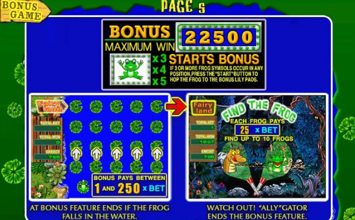 Игровой Автомат Fairy Land Лягушки